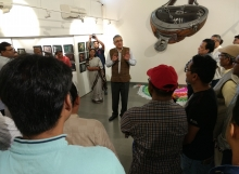 Chairman, GACL Education Society addressing teh heritage enthusiasts